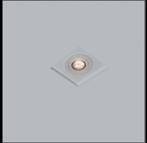 Luminária de Embutir No Frame Quadrado PAR16/Dicroica 12x12cm Metal - Usina 30200/9