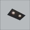 Luminária de Embutir No Frame Retangular Duplo/Finestra PAR16/Dicroica 23x12cm Metal - Usina 30215/25