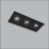Luminária de Embutir No Frame Retangular Triplo AR70 38x14cm Metal - Usina 30221/41