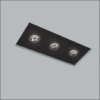 Luminária de Embutir No Frame Retangular Triplo PAR16/Dicroica 34x12cm Metal - Usina 30215/38