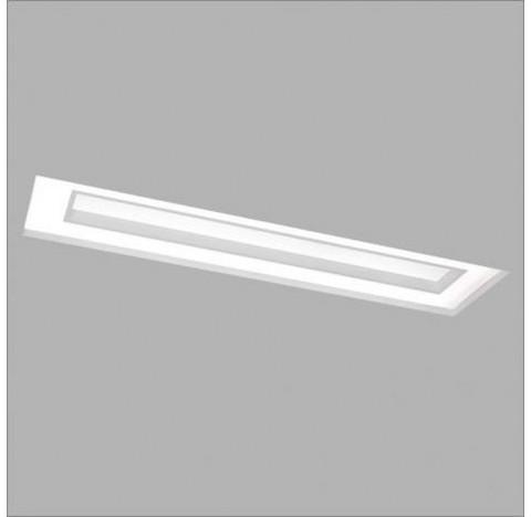 Luminária de Embutir Cherry No Frame Retangular 66x30cm Metal e Acrílico - Usina 30515/65
