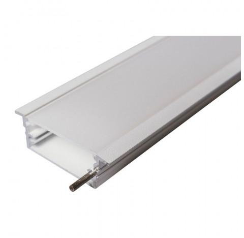 Perfil de Embutir Route Linear 150x6,2cm Metal e Acrílico - Usina 30670/150