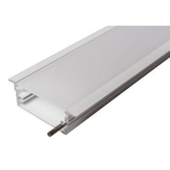 Perfil de Embutir Route Linear 275x6,2cm Metal e Acrílico - Usina 30670/275