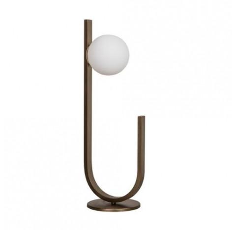 Luminária de Mesa Dama 53xØ15cm Metal e Vidro - Usina 16809/1