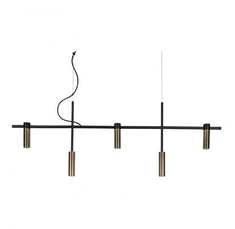 Pendente Barão Retangular 121cm Metal - Usina 16815/5
