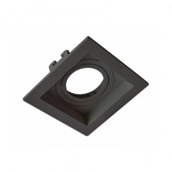 Spot de Embutir Face Recuada Quadrado Mini Dicroica 7x7cm Termoplástico Preto - Moon Iluminação 1060083