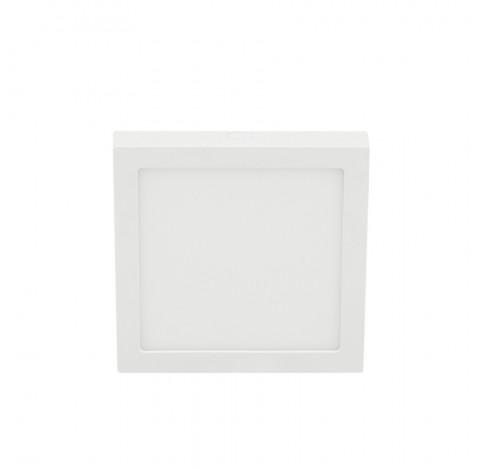 Plafon de Sobrepor LED ECO Quadrado 6500K Frio 18W Bivolt 19,2x19,2cm Policarbonato Branco - Stella STH21963Q/65