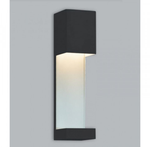 Arandela Linda Retangular Externo Halopin 30x7,5x7,5cm Metal - Usina 5740/30