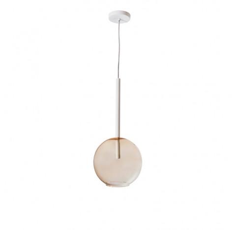 Pendente Ball Redondo Ø25cm Metal e Vidro - Usina 16410/25