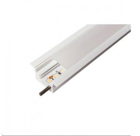 Perfil de Embutir Garbo Linear 100x3,4cm Metal e Acrílico - Usina 30030/100