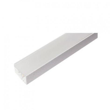 Perfil de Sobrepor Garbo Linear 150x2,3cm Metal e Acrílico - Usina 30020/150