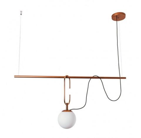 Pendente Quiron 55x14cm Metal e Vidro - Usina 16605/1