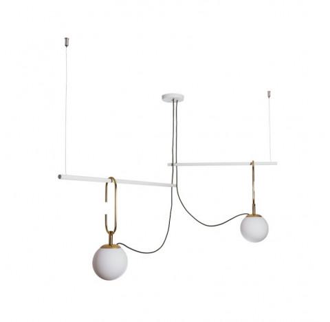 Pendente Quiron 59x59cm Metal e Vidro - Usina 16605/2