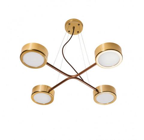 Pendente Spinner Ø60,5cm Metal e Acrílico - Usina 16581/4