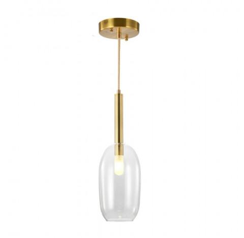 Pendente Filó Ø14cm Metal e Vidro Bronze e Transparente - Bella Iluminação RZ007