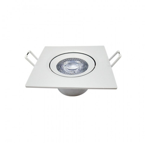 Spot de Embutir LED Supimpa Quadrado 3000K Quente 5W Bivolt 8,8x8,8cm Polipropileno Branco - Avant 865020579