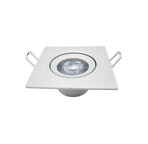 Spot de Embutir LED Supimpa Quadrado 6500K Frio 5W Bivolt 8,8x8,8cm Polipropileno Branco - Avant 865021371